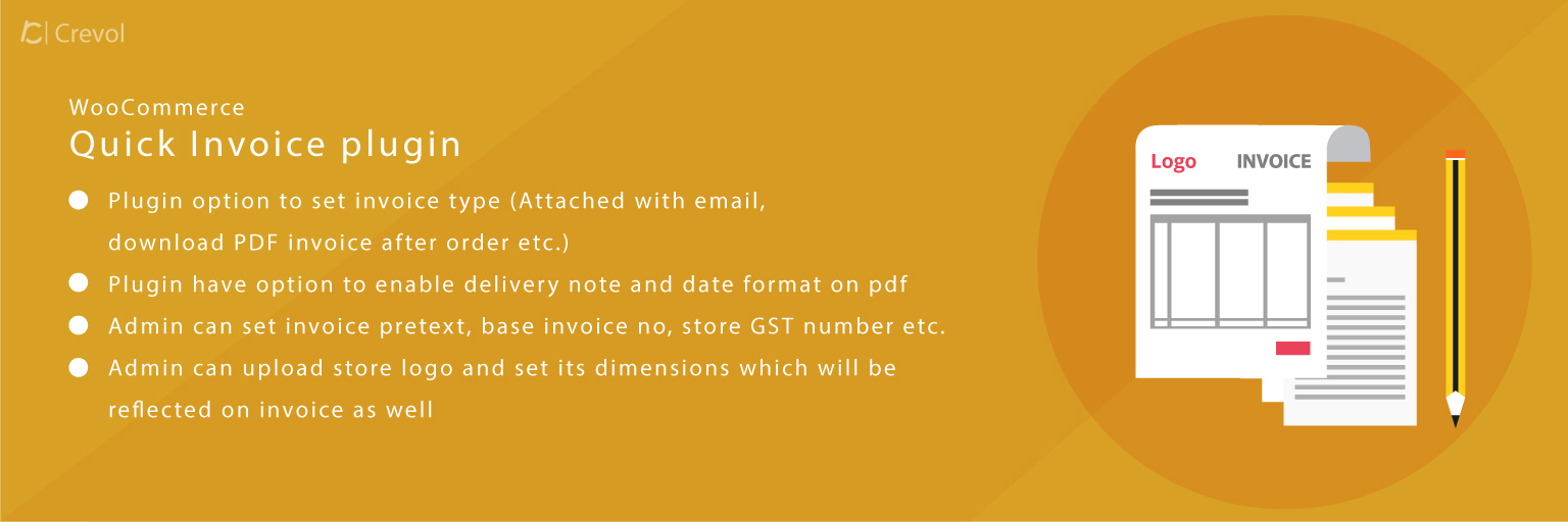Woocommerce Quick Invoice With GST Custom Fields - Quick invoice